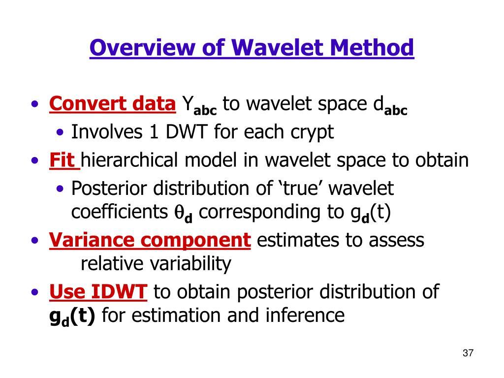 Overview of Wavelet Method