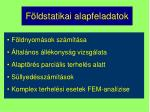 f ldstatikai alapfeladatok