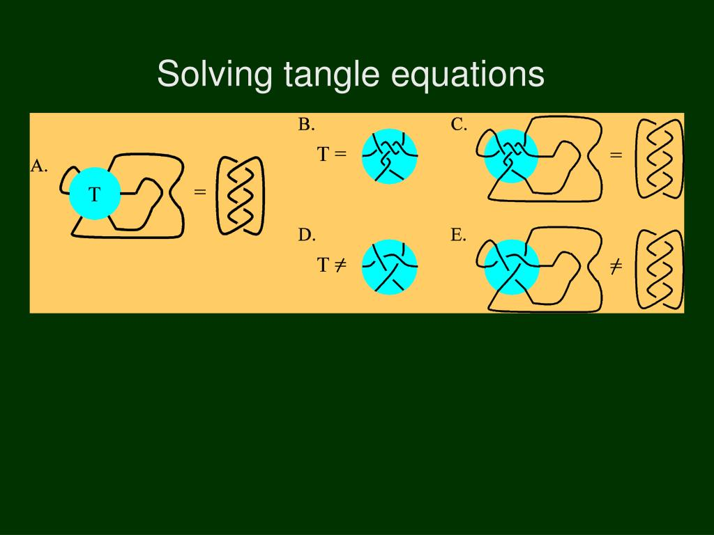Solving tangle equations