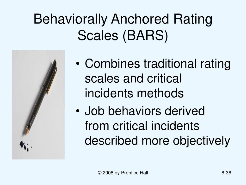 behaviorally anchored rating scale bars Behavior: teacher evaluation: test construction: tosting problems  behaviorally anchored rating scales behaviorally anchored rating scales ( bars)_,.