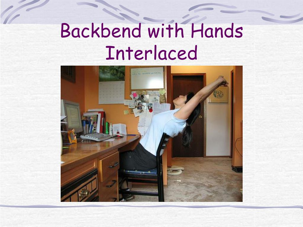 Backbend with Hands Interlaced