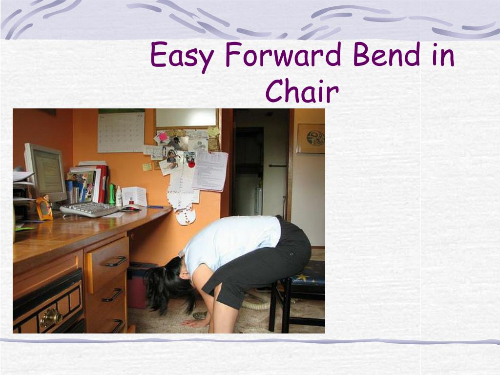 Easy Forward Bend in Chair