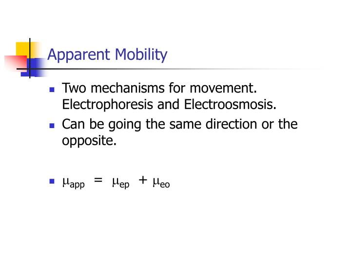Apparent Mobility