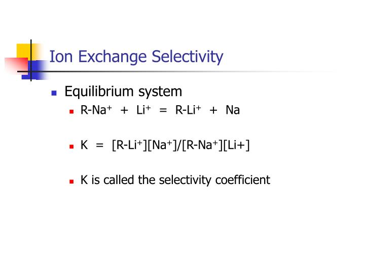 Ion Exchange Selectivity