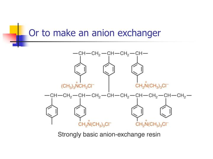 Or to make an anion exchanger