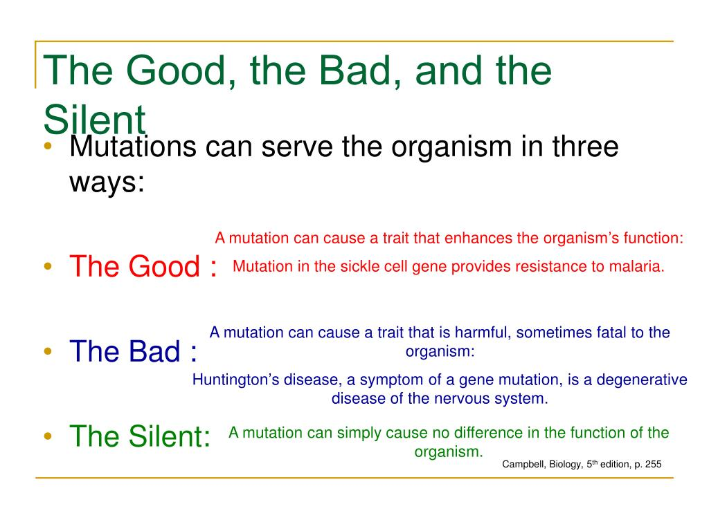 The Good, the Bad, and the Silent