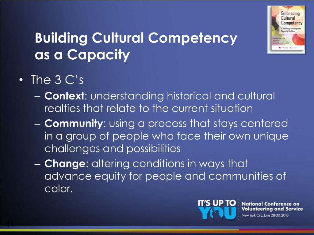 Building Cultural Competency as a Capacity