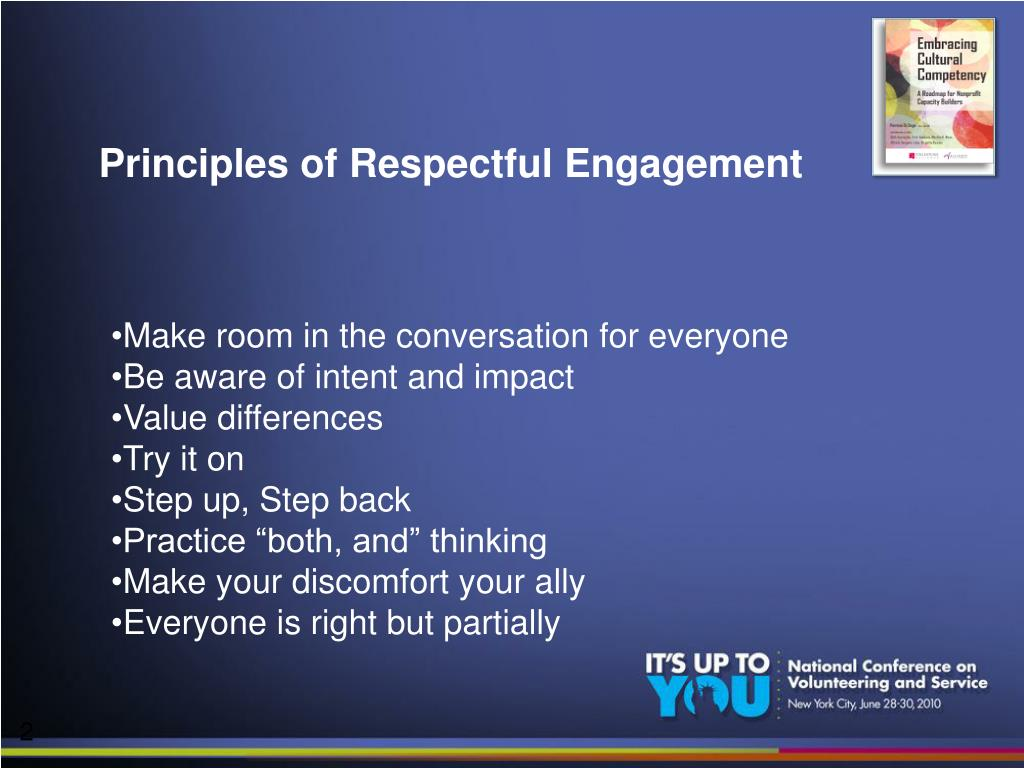 Principles of Respectful Engagement