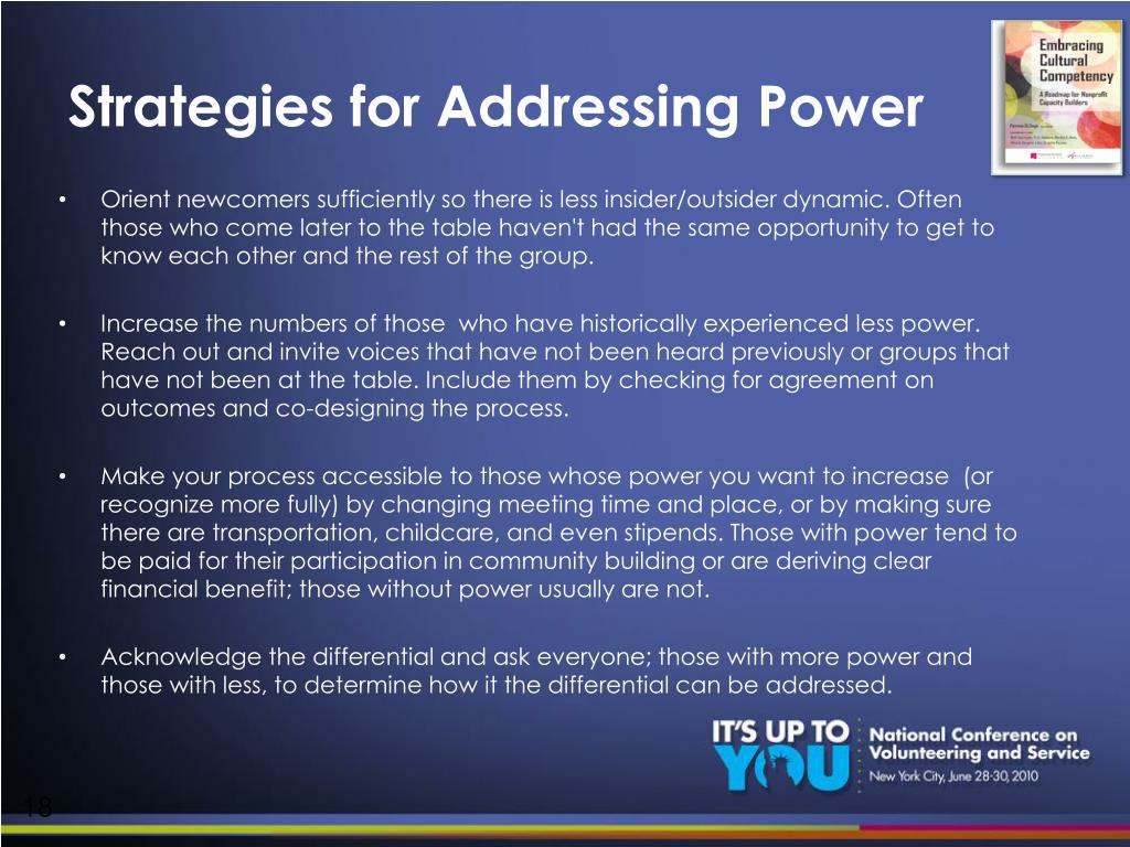 Strategies for Addressing Power