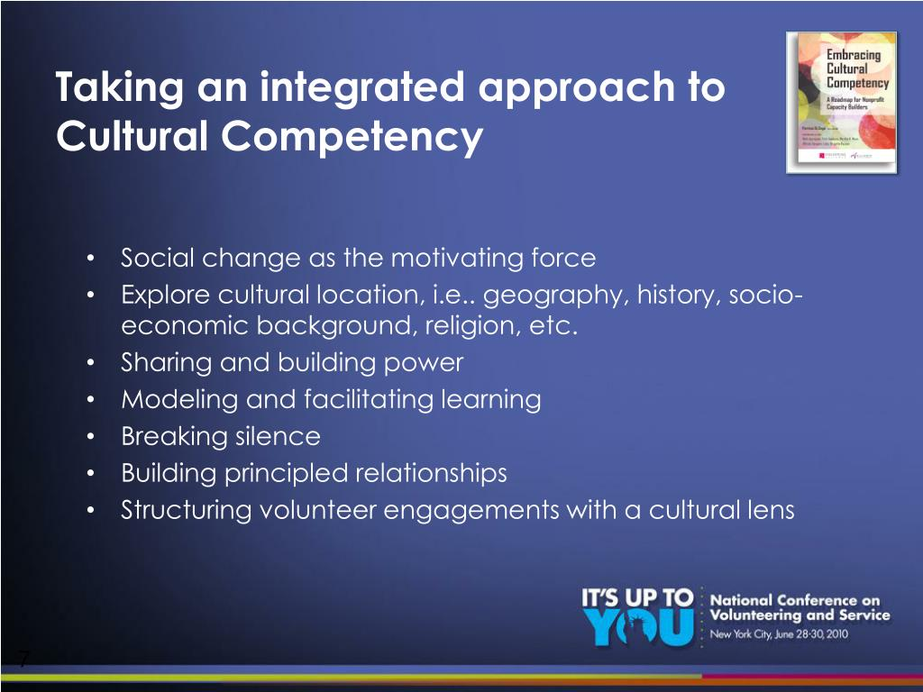 Taking an integrated approach to Cultural Competency