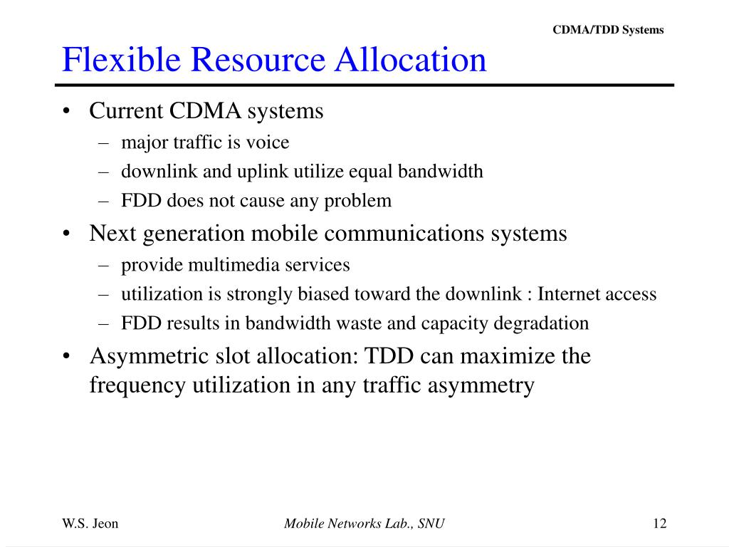 Flexible Resource Allocation