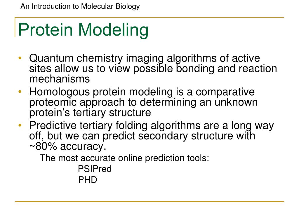 Protein Modeling