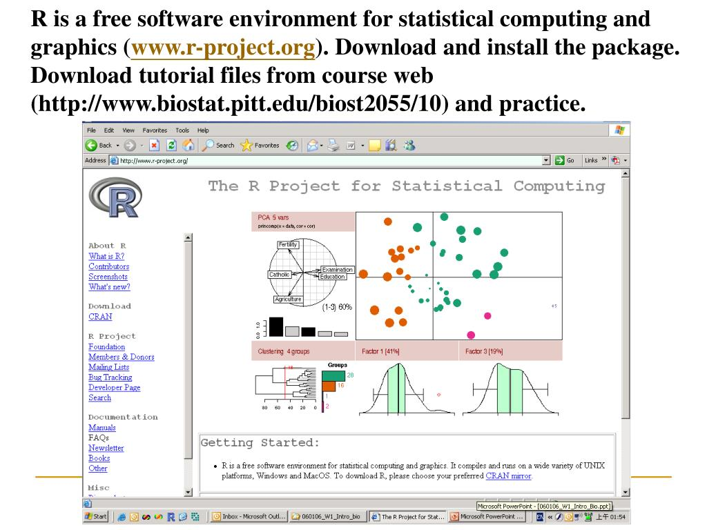 R is a free software environment for statistical computing and graphics (