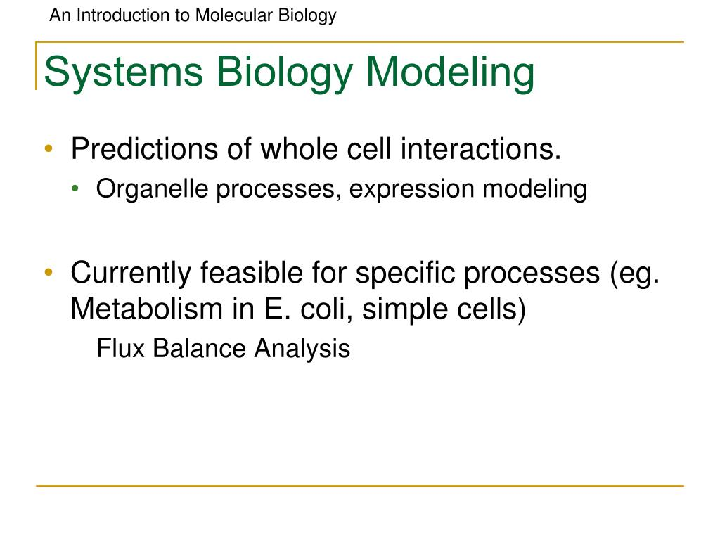 Systems Biology Modeling