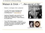 watson crick the secret of life