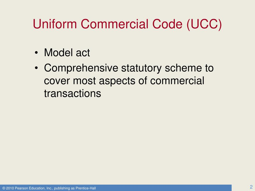 ucc essay 2-102: ucc art 2 applies to all transactions in goods, unless the context requires otherwise - contains an exception for statutes regulating sales to consumers, farmers, other.