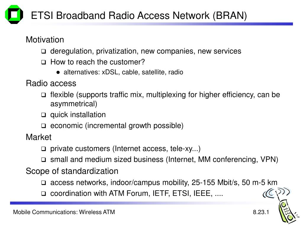ETSI Broadband Radio Access Network (BRAN)