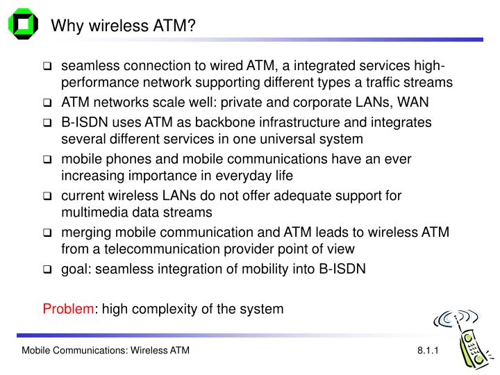 Why wireless atm