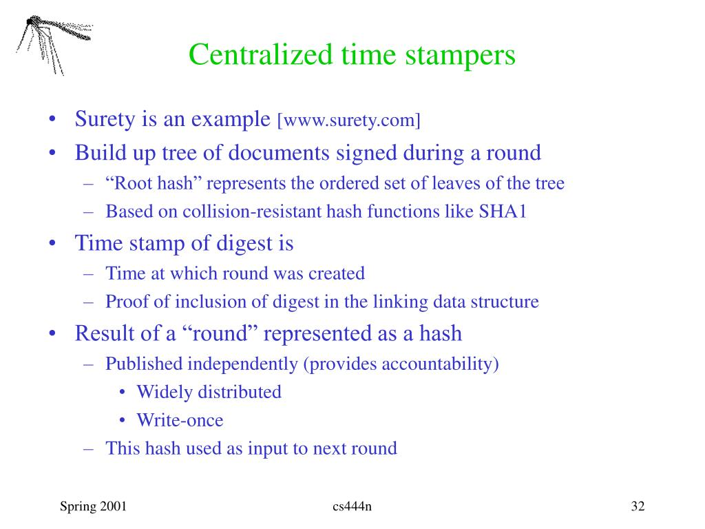 Centralized time stampers