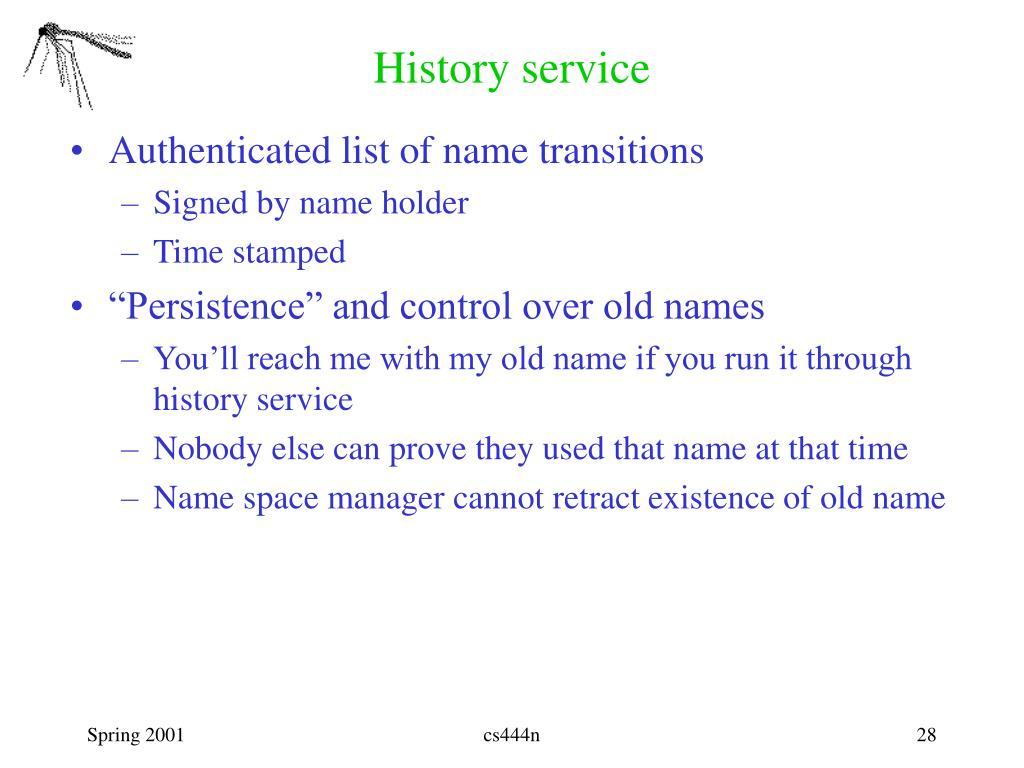 History service