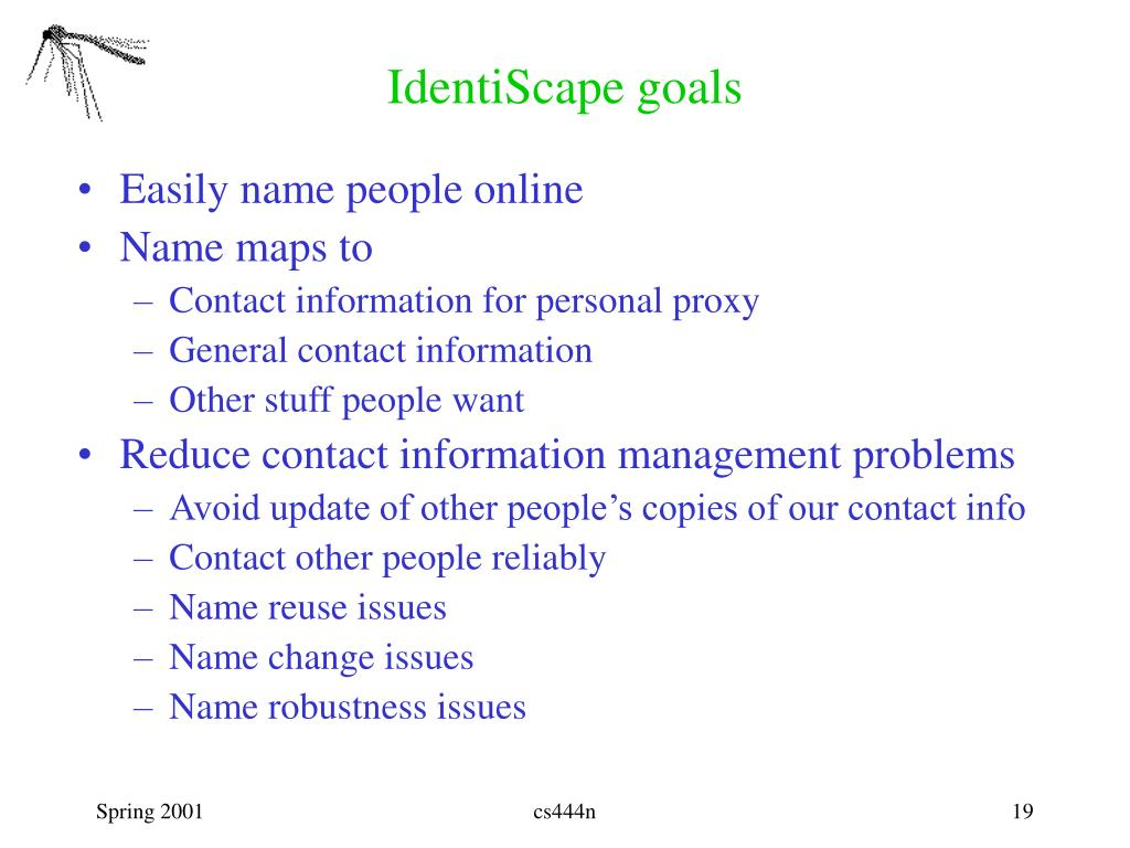 IdentiScape goals