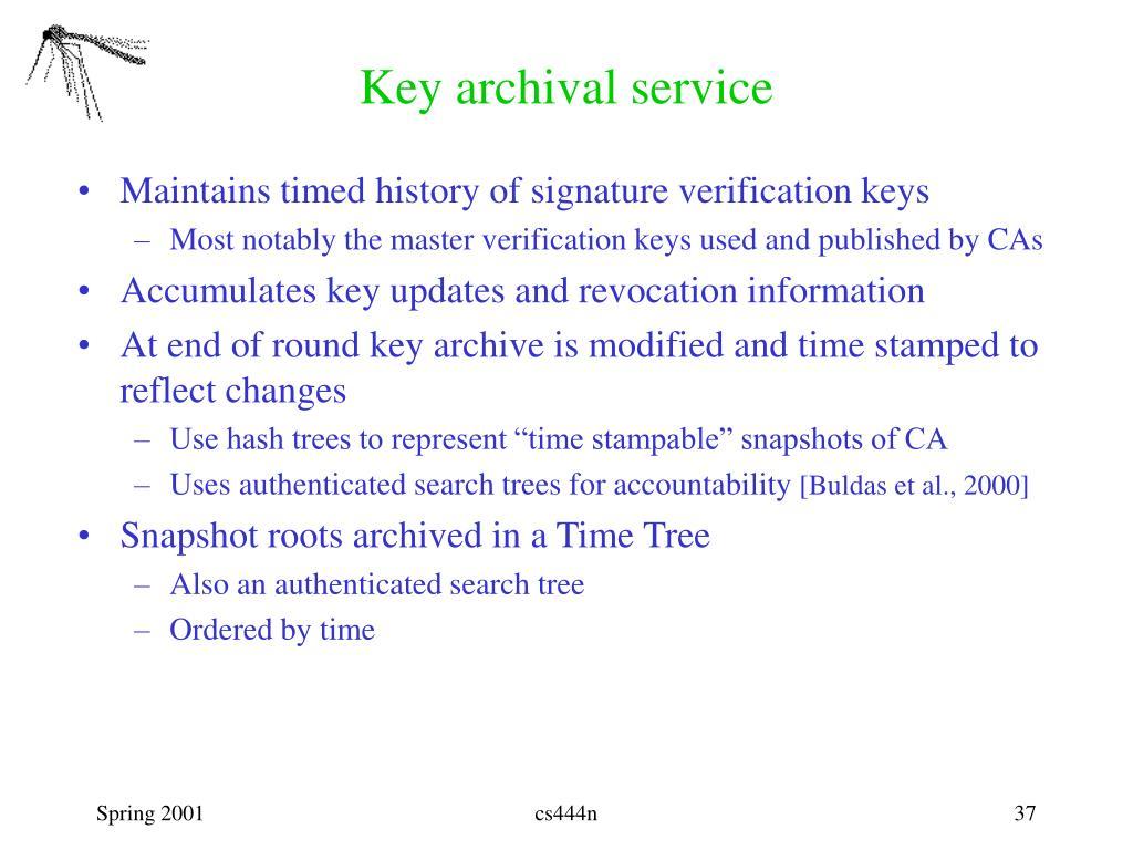 Key archival service