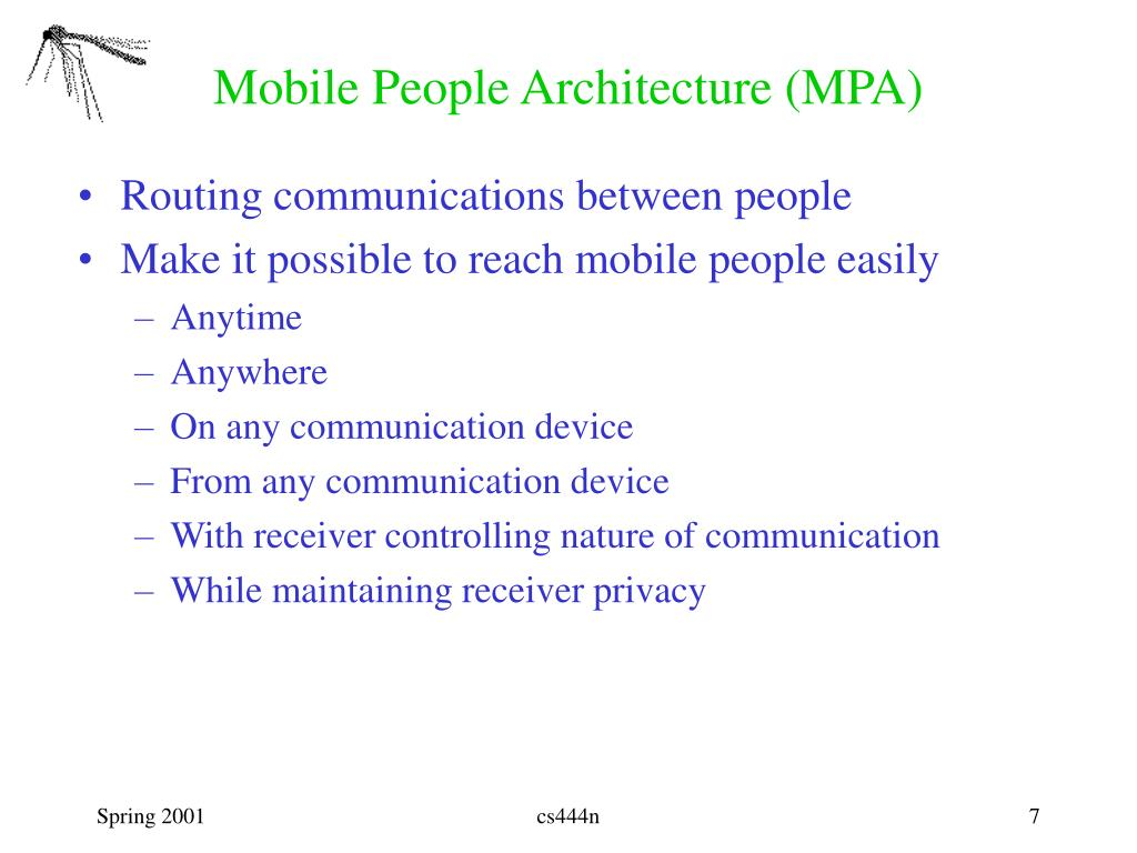 Mobile People Architecture (MPA)