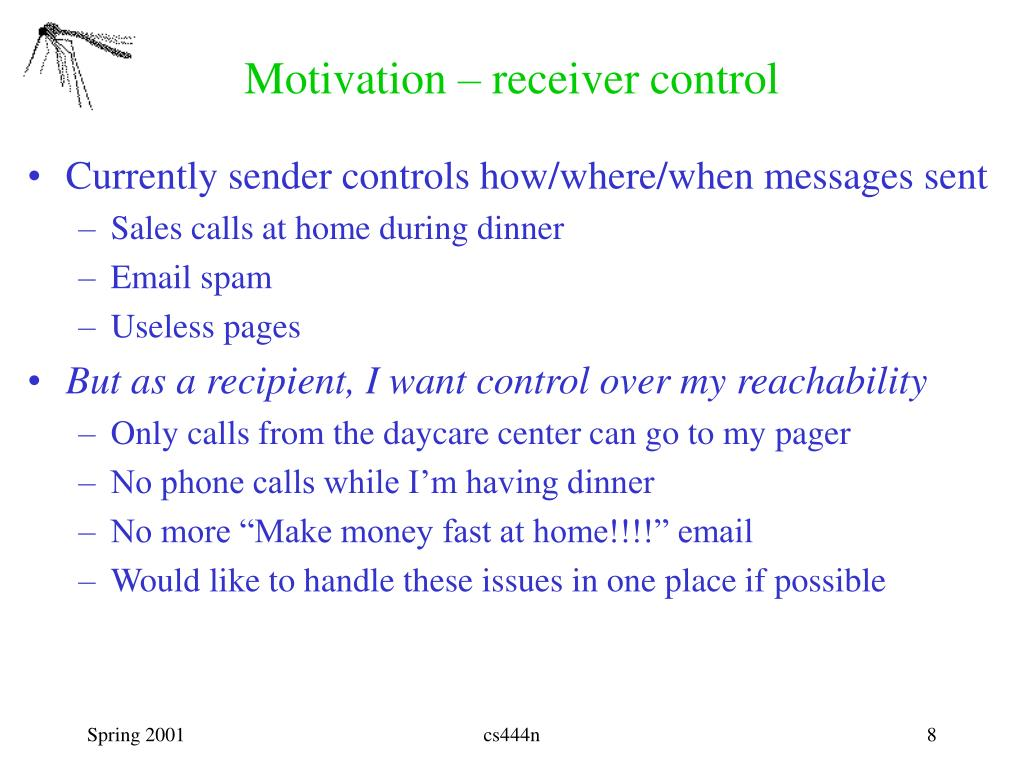 Motivation – receiver control