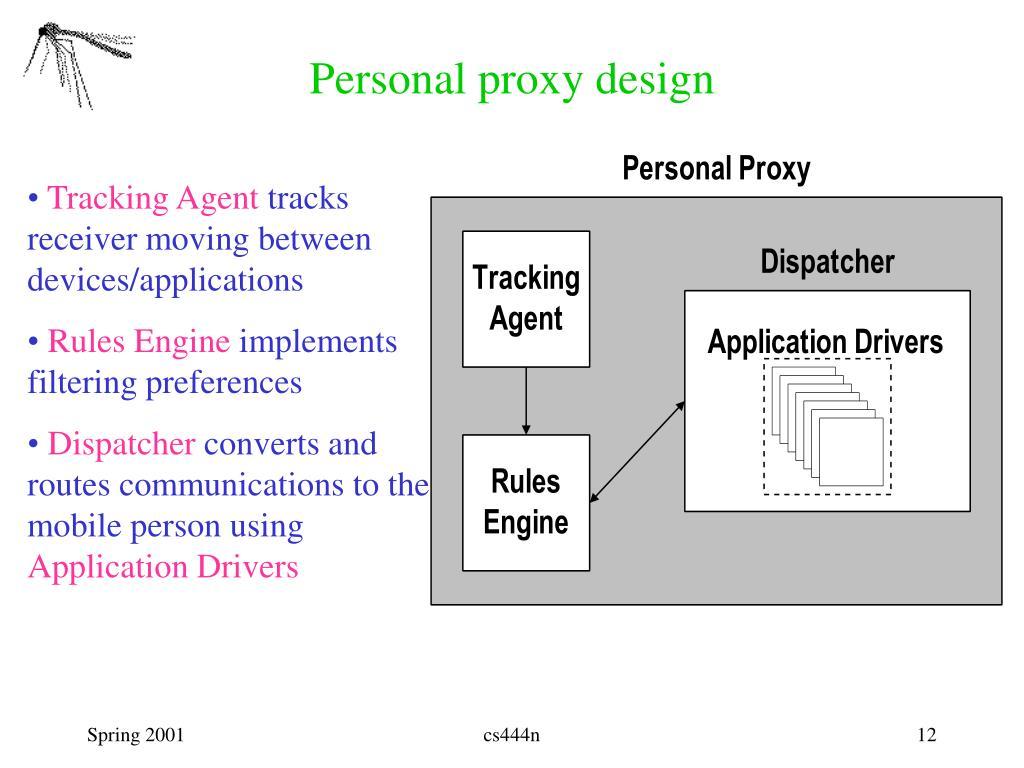 Personal proxy design