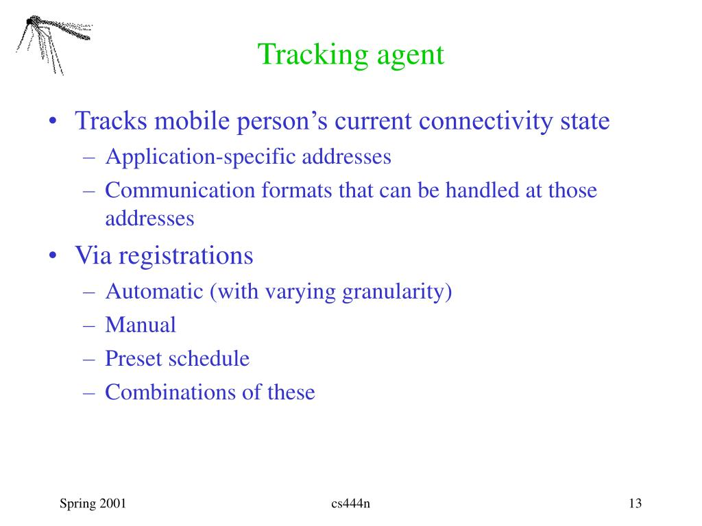 Tracking agent
