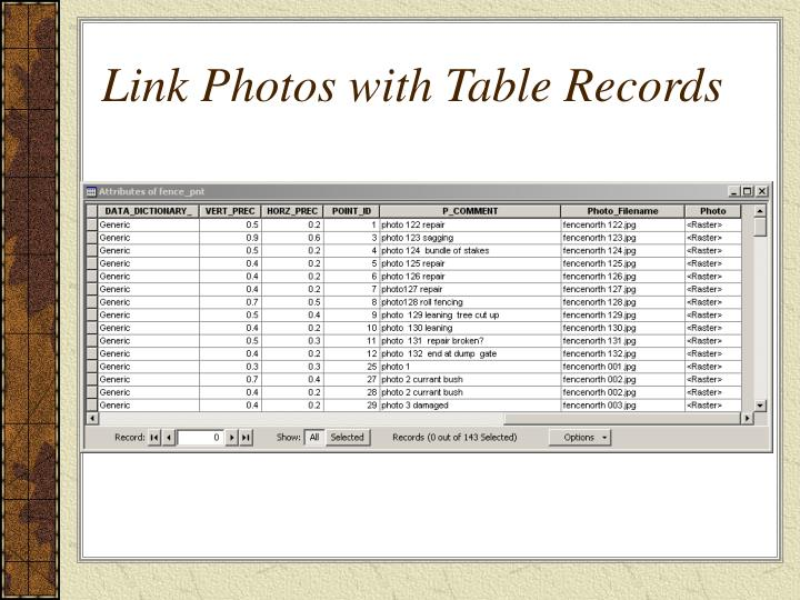 Link Photos with Table Records
