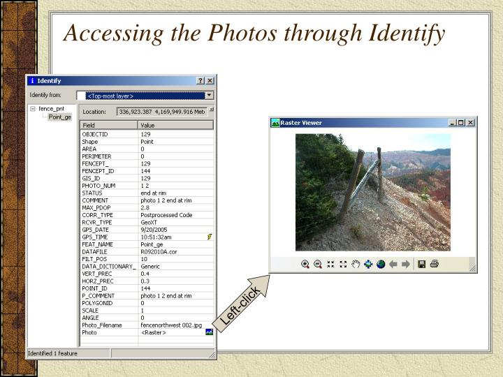 Accessing the Photos through Identify