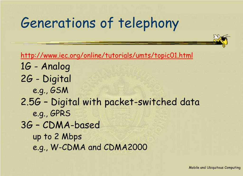 Generations of telephony