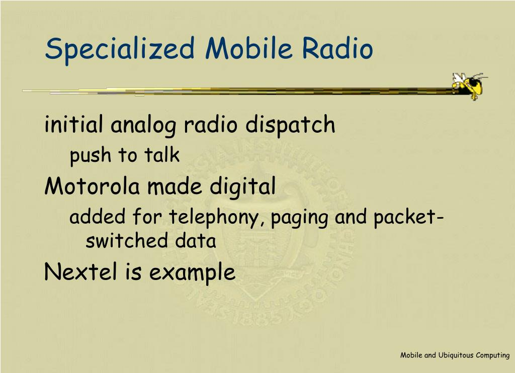 Specialized Mobile Radio