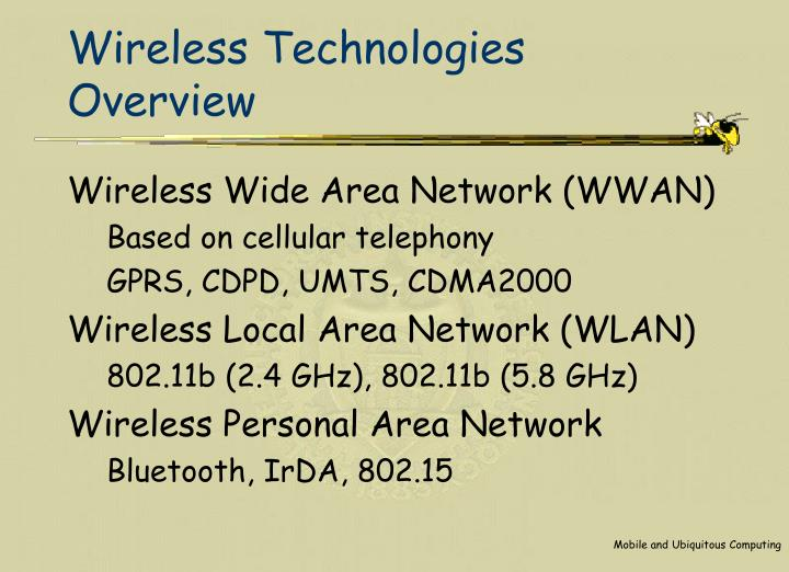 Wireless technologies overview