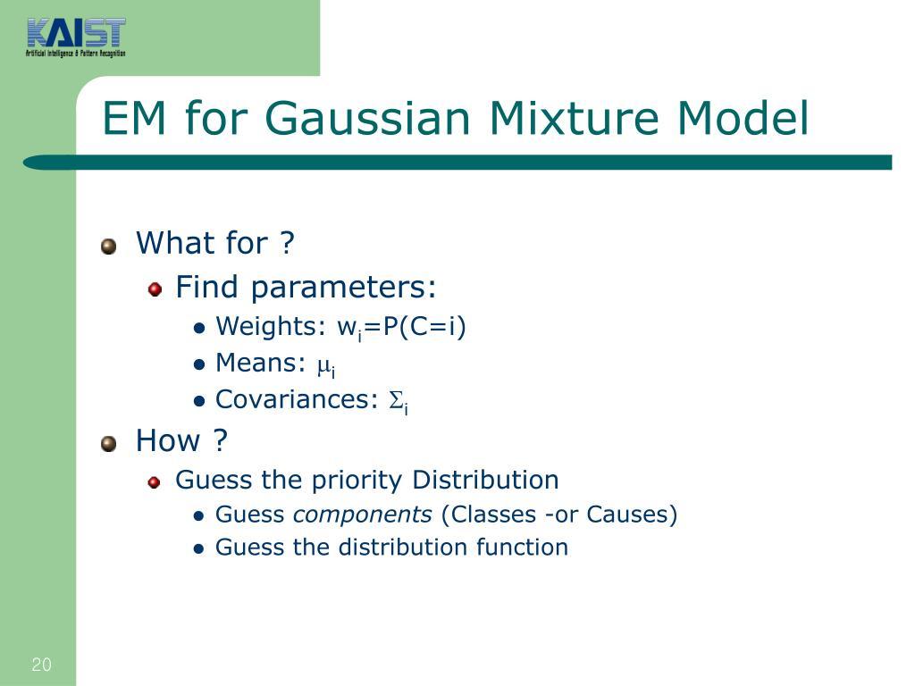 EM for Gaussian Mixture Model