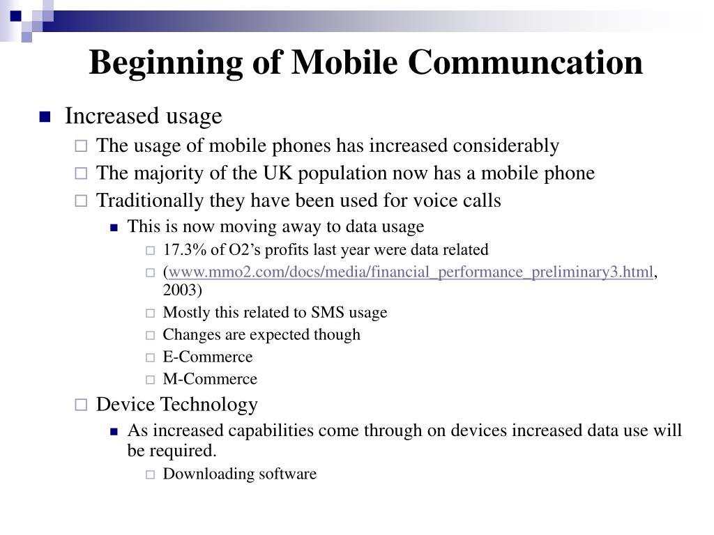 Beginning of Mobile Communcation