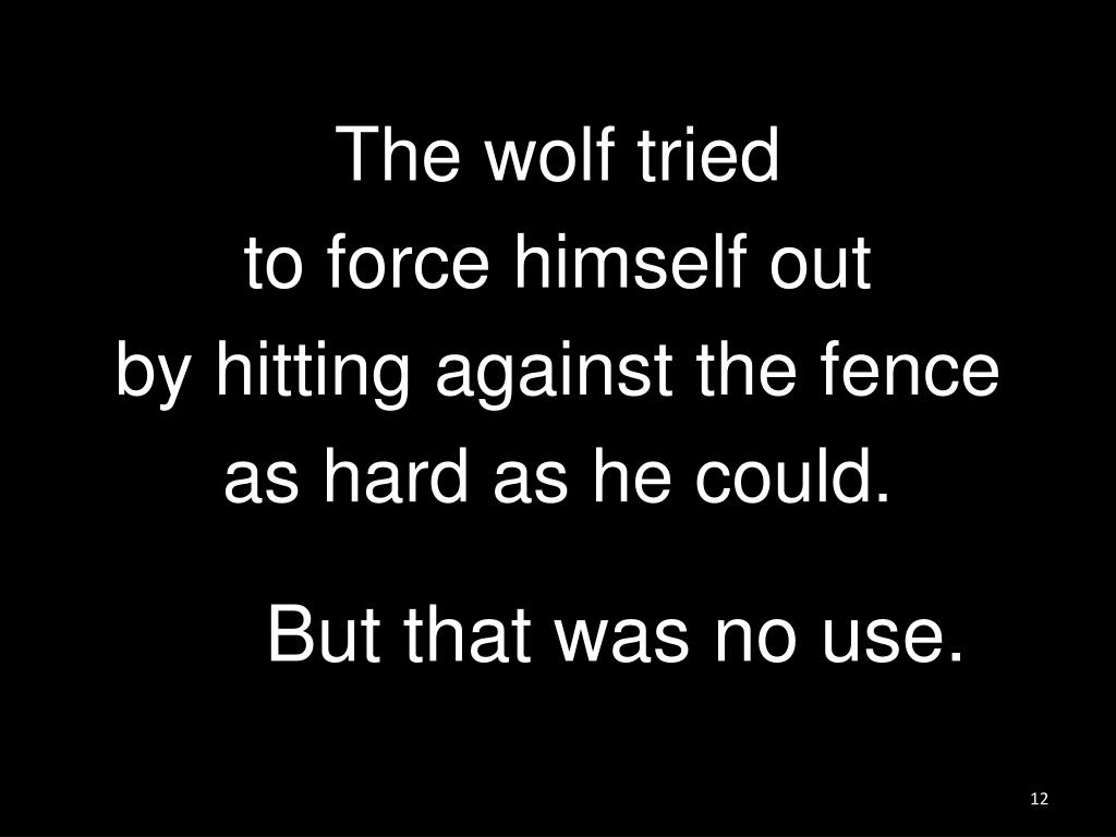 The wolf tried