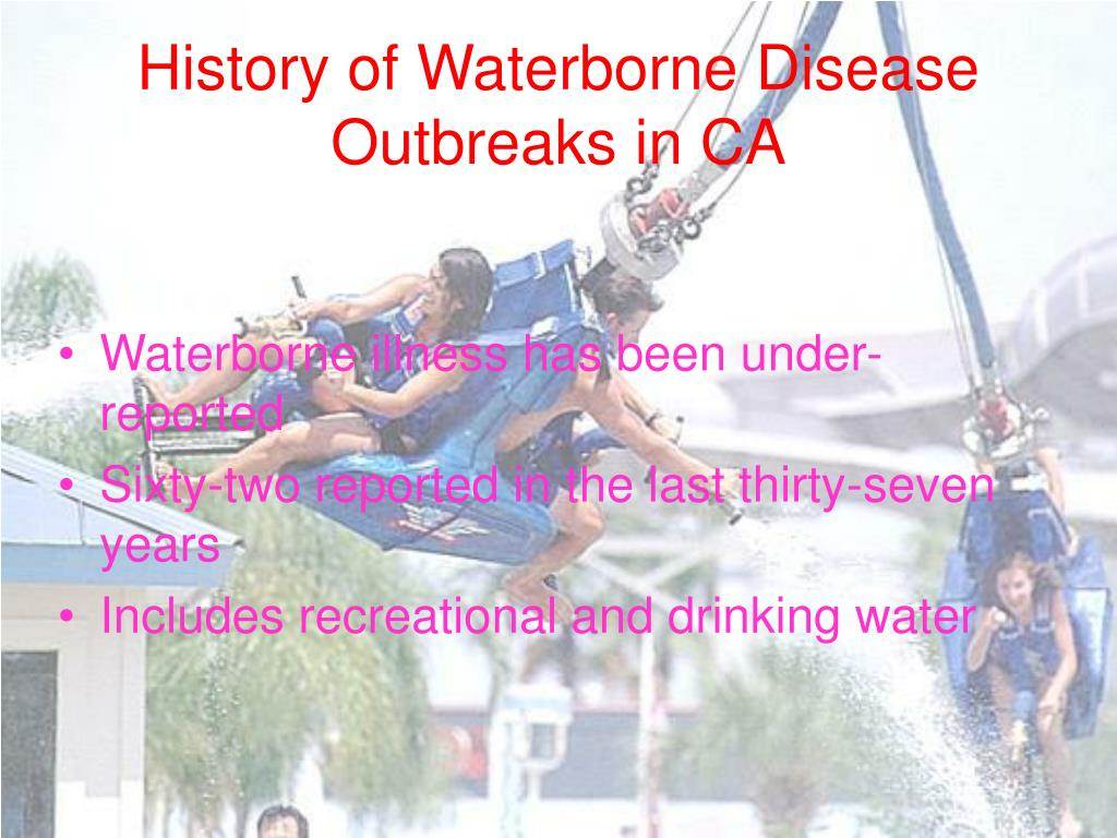 History of Waterborne Disease Outbreaks in CA