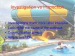 investigation vs inspection