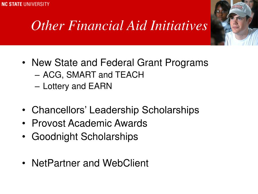 Other Financial Aid Initiatives