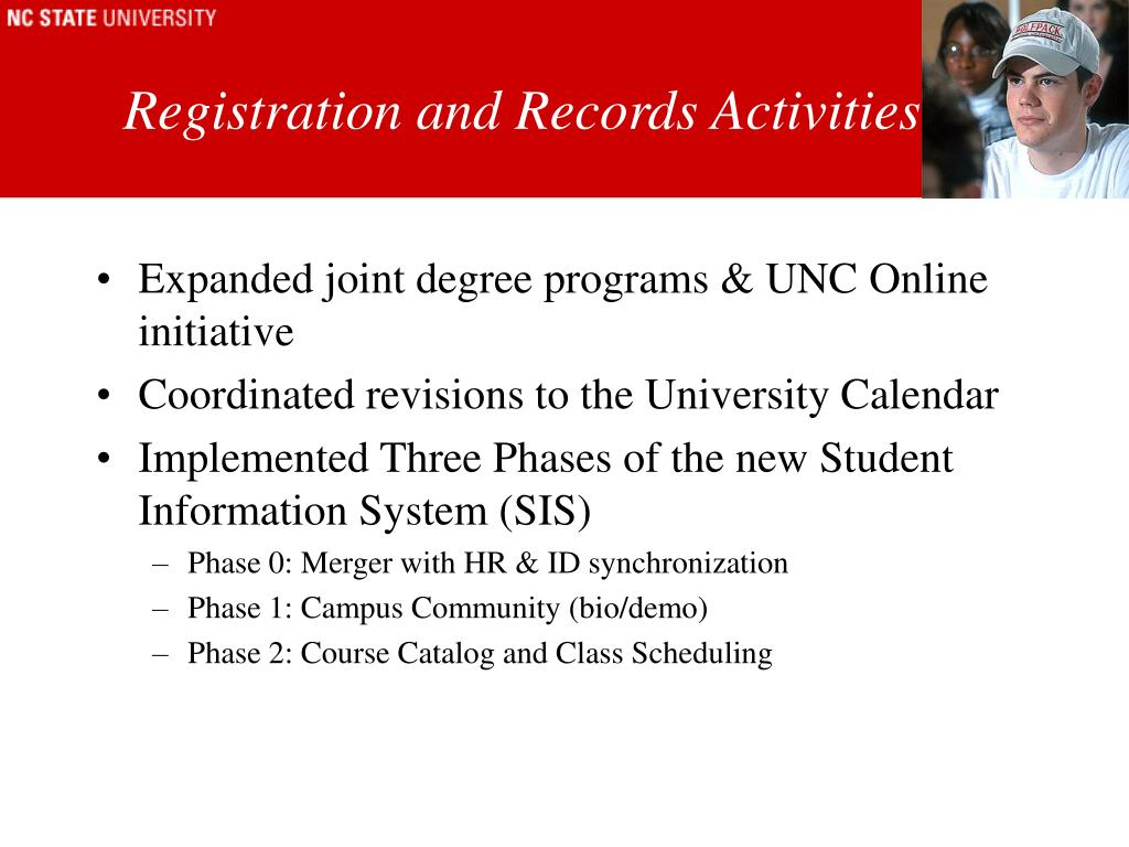 Registration and Records Activities