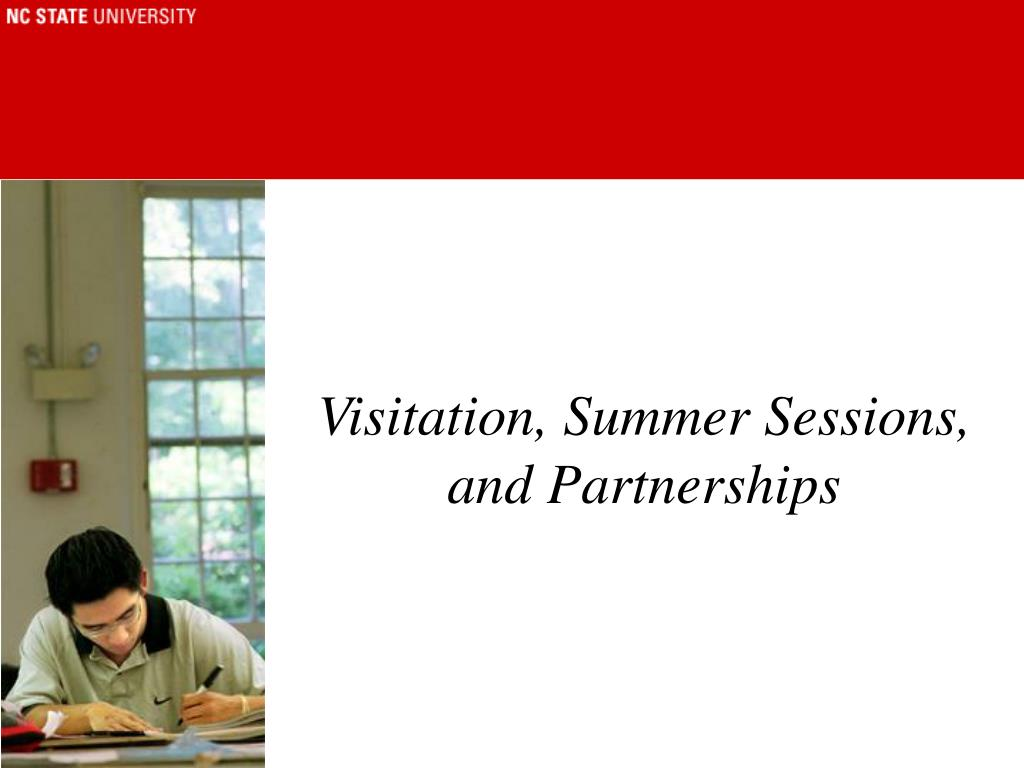 Visitation, Summer Sessions, and Partnerships