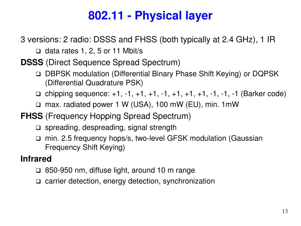 802.11 - Physical layer