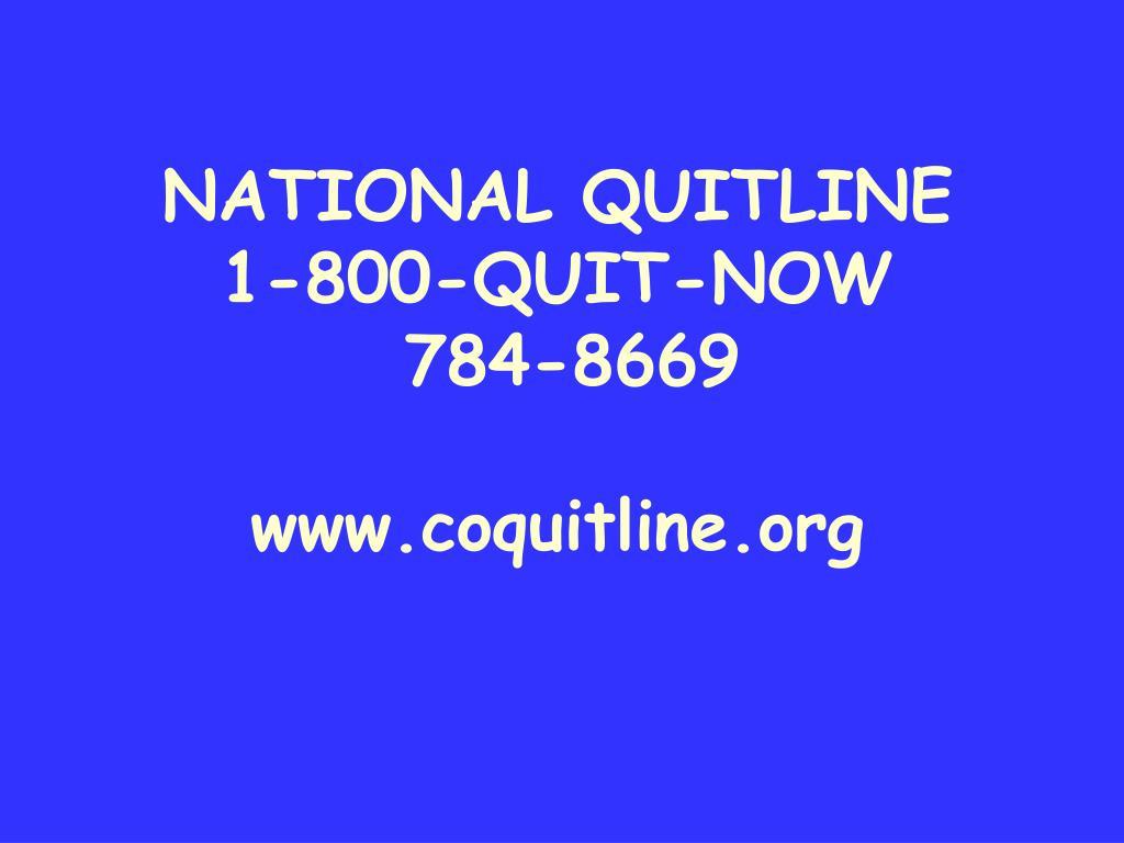 NATIONAL QUITLINE