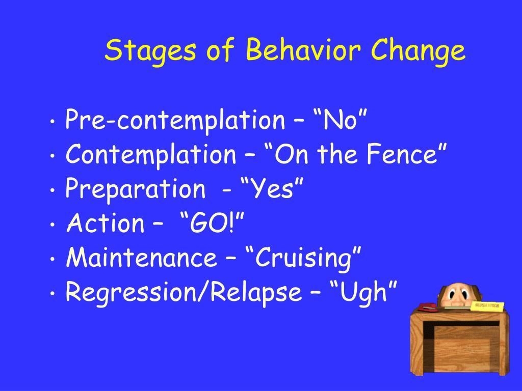 Stages of Behavior Change