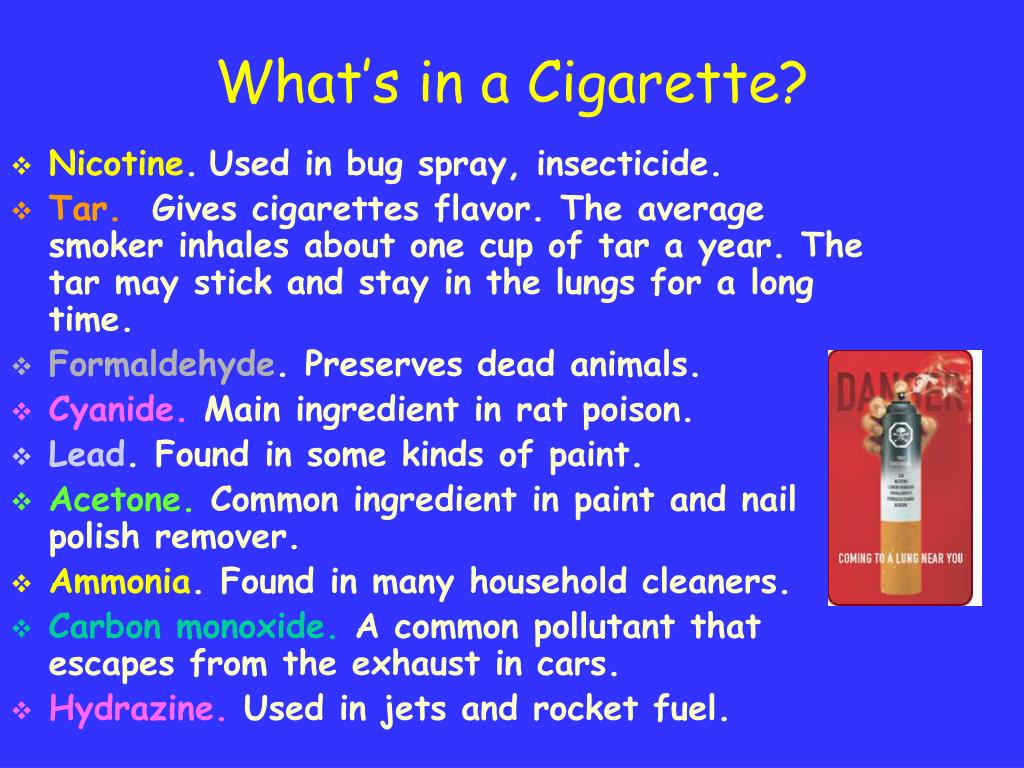 What's in a Cigarette?