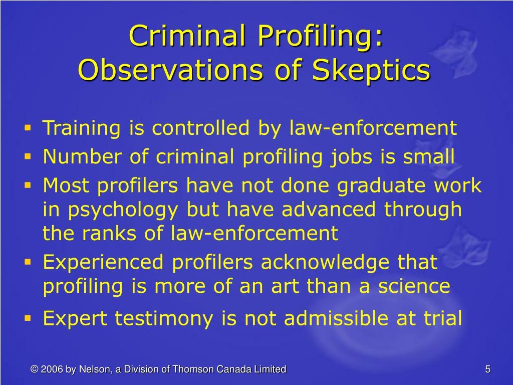 Criminal Profiling: