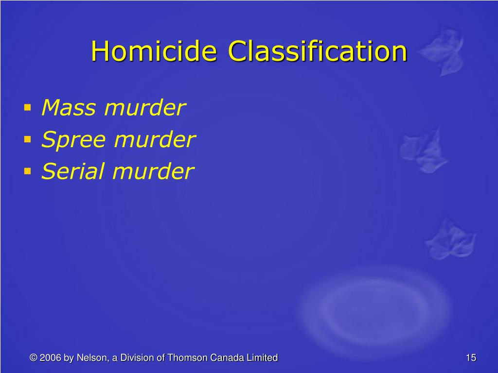 Homicide Classification