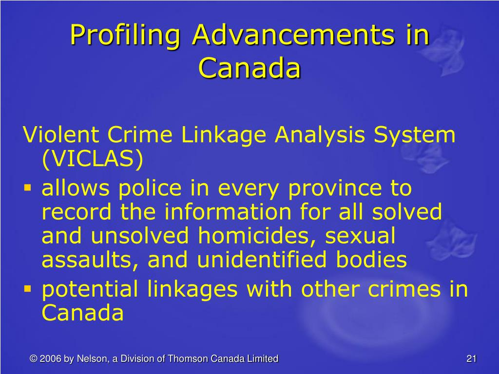 Profiling Advancements in Canada